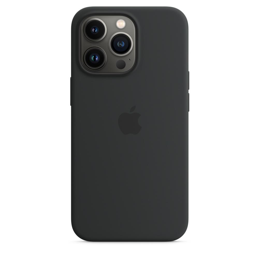 Силиконовый чехол MagSafe для iPhone 13 Pro, цвет «тёмная ночь»