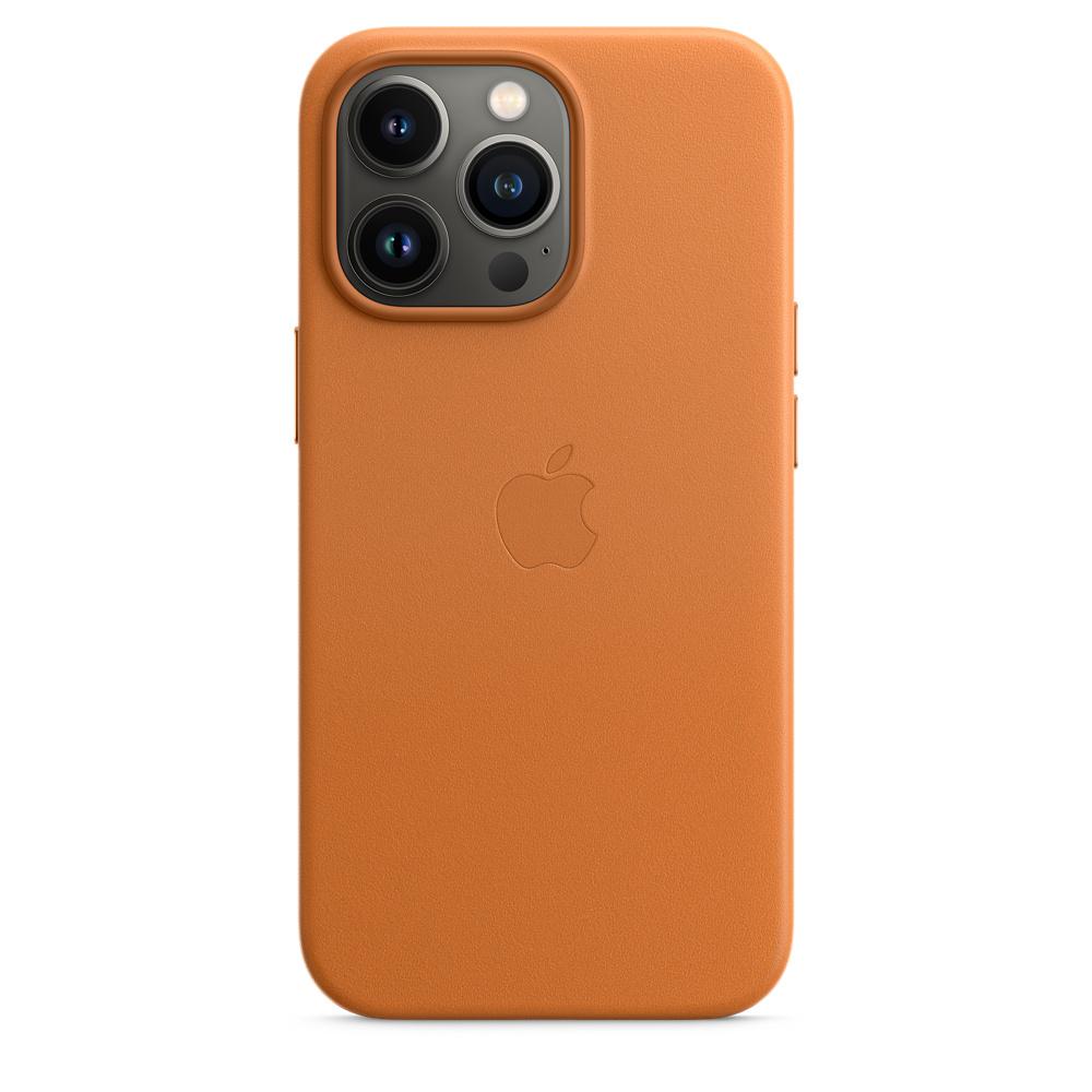 Кожаный чехол MagSafe для iPhone 13 Pro, цвет «золотистая охра»