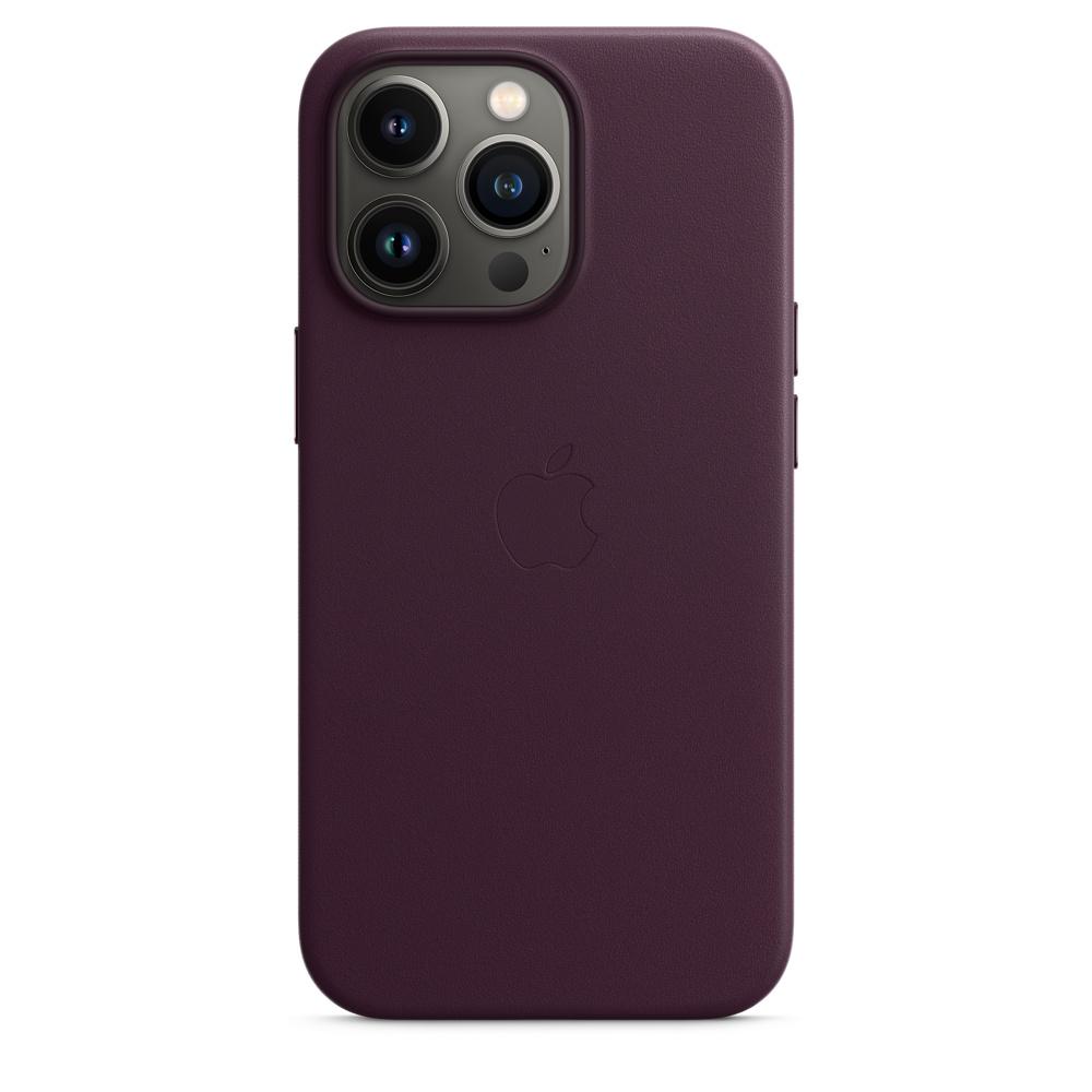 Кожаный чехол MagSafe для iPhone 13 Pro, цвет «тёмная вишня»