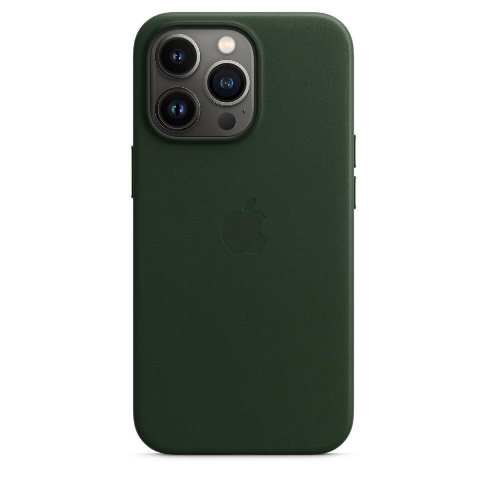 Кожаный чехол MagSafe для iPhone 13 Pro, цвет «зелёная секвойя»