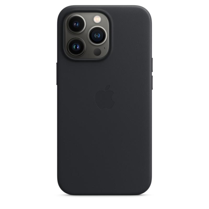 Кожаный чехол MagSafe для iPhone 13 Pro, цвет «тёмная ночь»