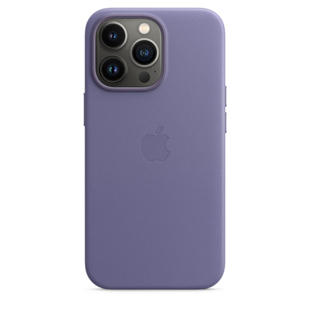 Кожаный чехол MagSafe для iPhone 13 Pro, цвет «сиреневая глициния»