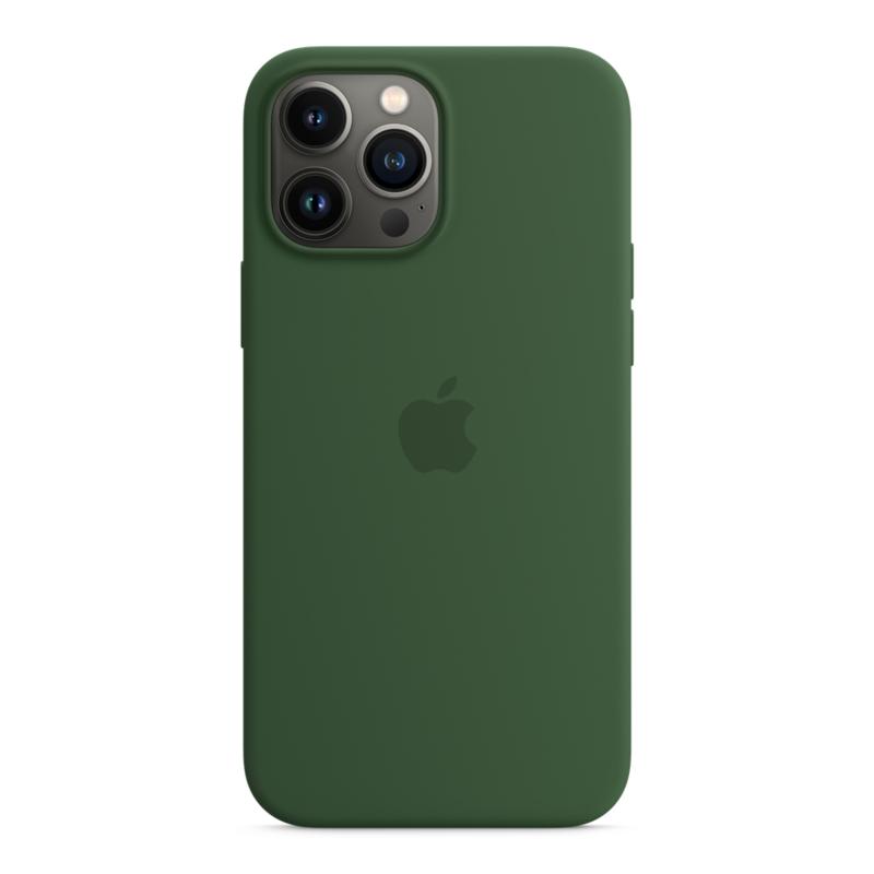 Силиконовый чехол MagSafe для iPhone 13 Pro Max, цвет «зелёный клевер»