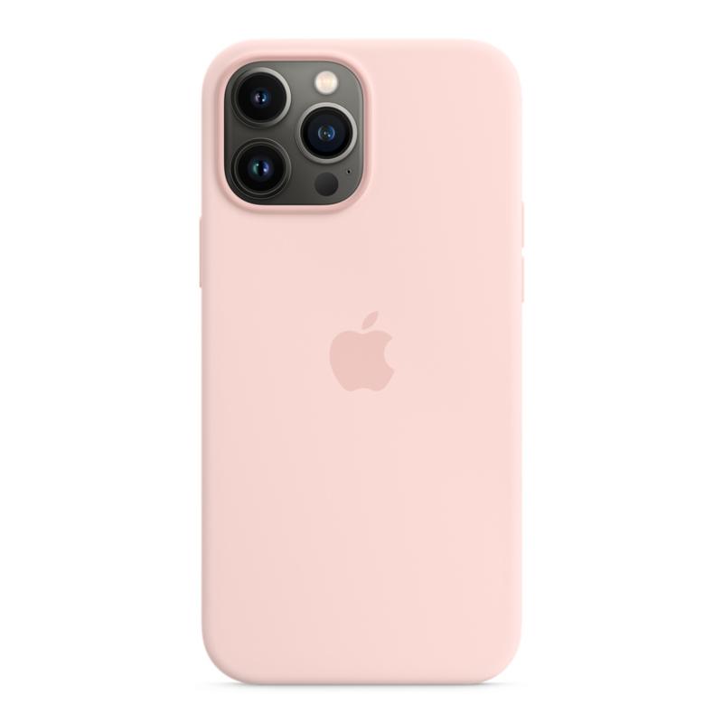 Силиконовый чехол MagSafe для iPhone 13 Pro Max, цвет «розовый мел»