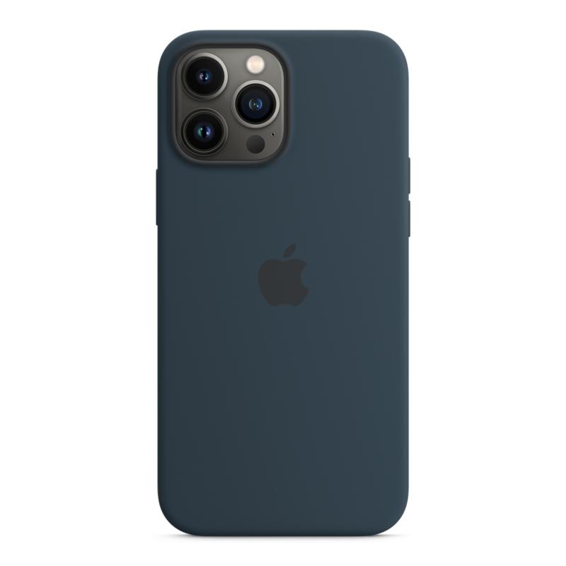 Силиконовый чехол MagSafe для iPhone 13 Pro Max, цвет «синий омут»