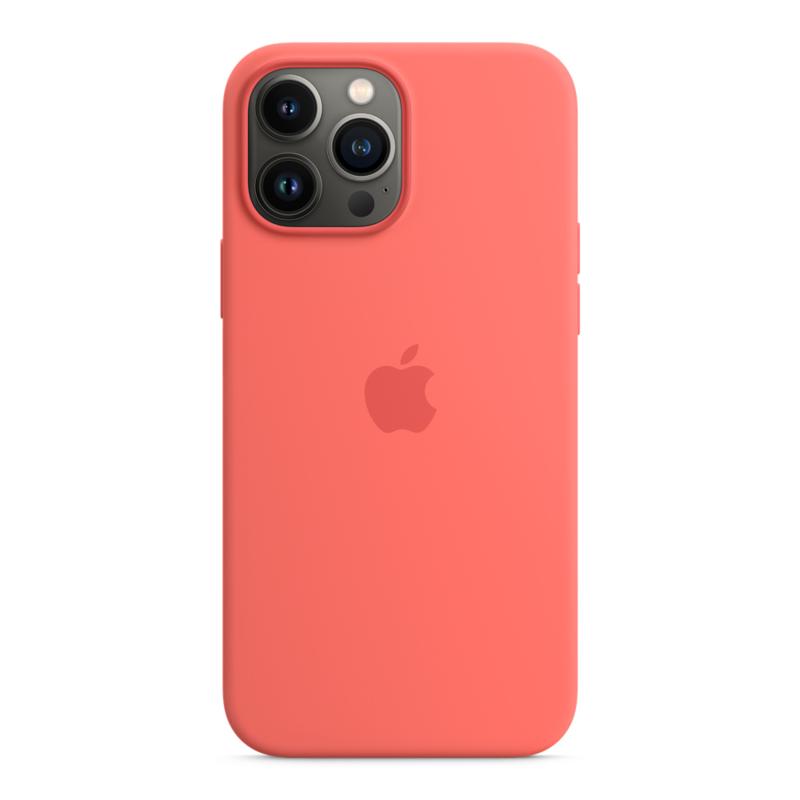 Силиконовый чехол MagSafe для iPhone 13 Pro Max, цвет «розовый помело»