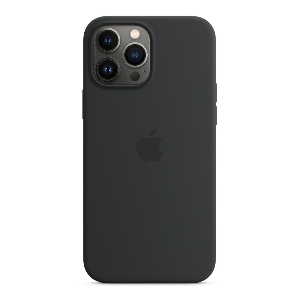 Силиконовый чехол MagSafe для iPhone 13 Pro Max, цвет «тёмная ночь»
