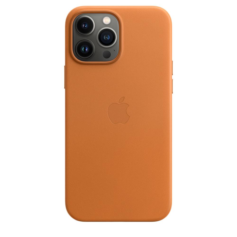 Кожаный чехол MagSafe для iPhone 13 Pro Max, цвет «золотистая охра»