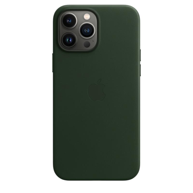 Кожаный чехол MagSafe для iPhone 13 Pro Max, цвет «зелёная секвойя»