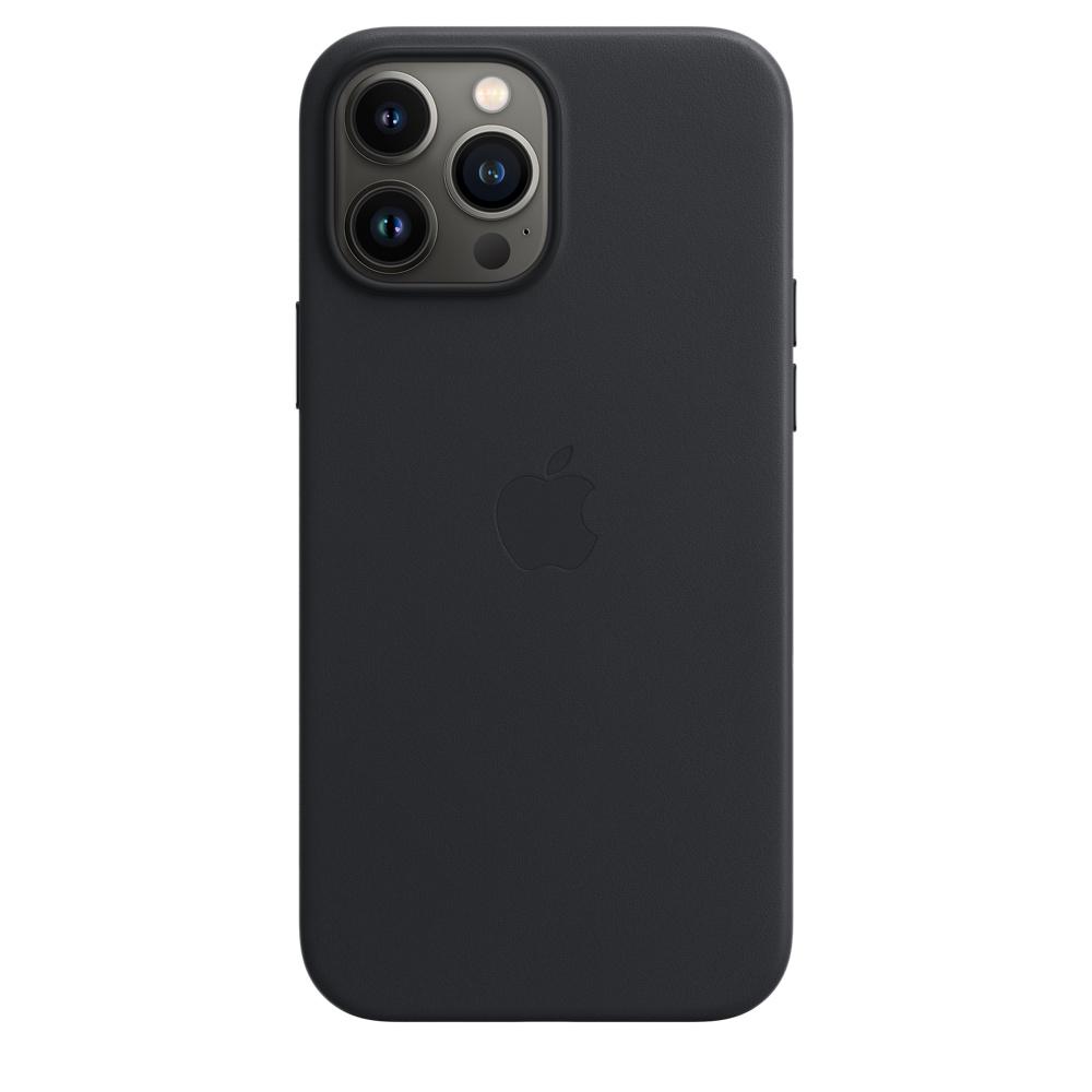 Кожаный чехол MagSafe для iPhone 13 Pro Max, цвет «тёмная ночь»