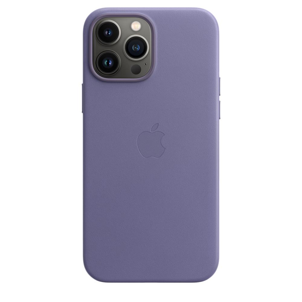 Кожаный чехол MagSafe для iPhone 13 Pro Max, цвет «сиреневая глициния»