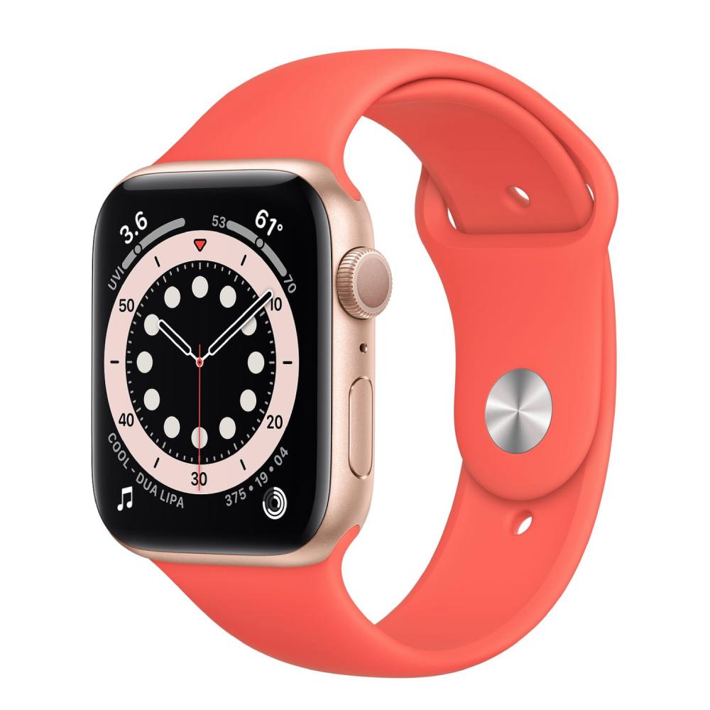Apple Watch Series 6 GPS 44mm Aluminum Case with Sport Band Золотистый/розовый цитрус