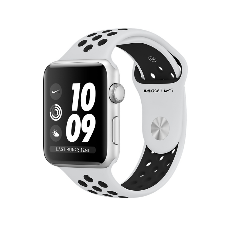 Apple Watch Series 3 Nike+ 42mm Silver Aluminum Case with Pure Platinum/Black Nike Sport Band
