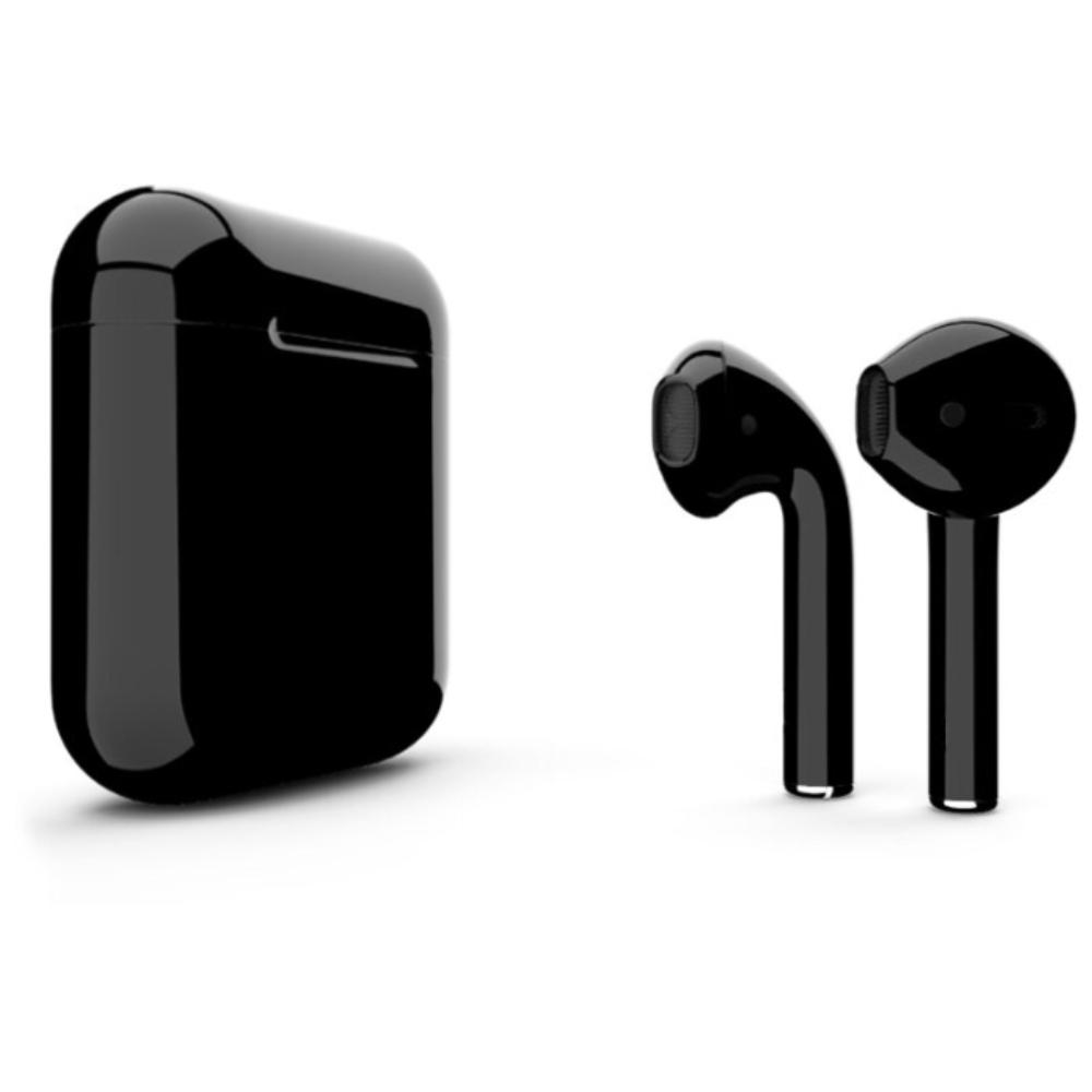 Беспроводные наушники Apple AirPods 2 Color (без беспроводной зарядки чехла) Black Glossy