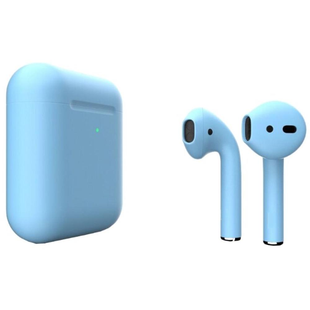 Беспроводные наушники Apple AirPods 2 Color (беспроводная зарядка чехла) Light Blue Matte