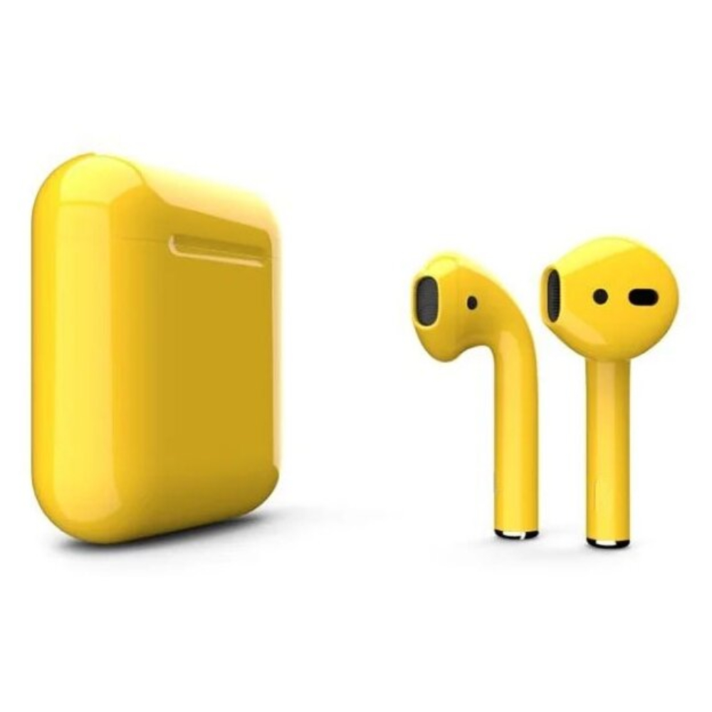 Беспроводные наушники Apple AirPods 2 Color (без беспроводной зарядки чехла) Yellow Glossy