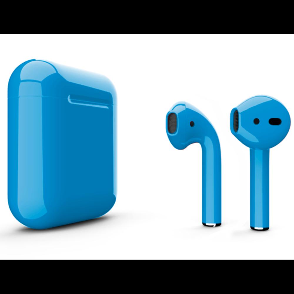 Беспроводные наушники Apple AirPods 2 Color (без беспроводной зарядки чехла) Light Blue Glossy