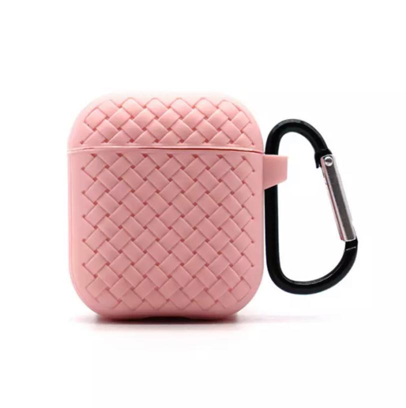 Чехол плетение для AirPods Pink