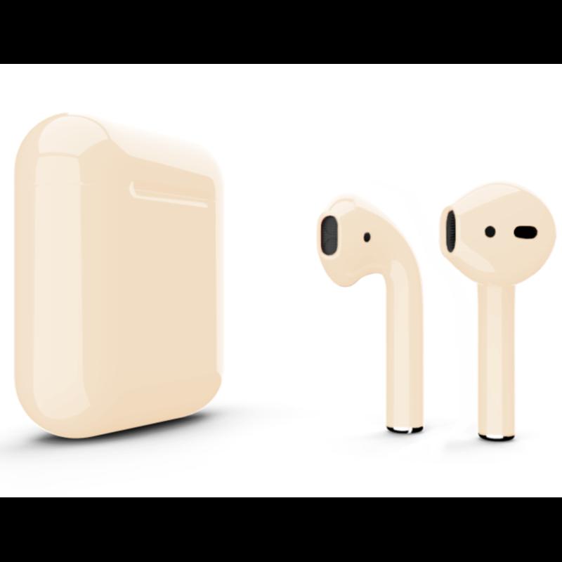 Беспроводные наушники Apple AirPods 2 Color (без беспроводной зарядки чехла) Beige Glossy