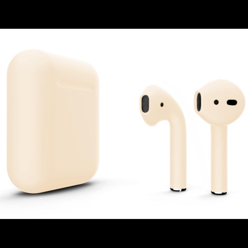 Беспроводные наушники Apple AirPods 2 Color (без беспроводной зарядки чехла) Beige Matte