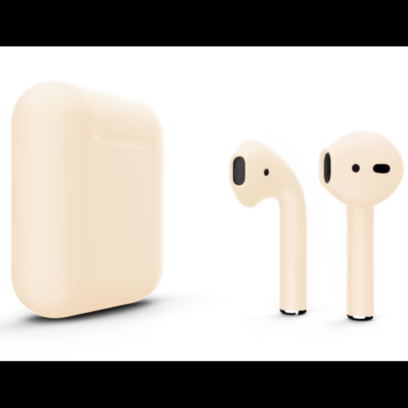 Беспроводные наушники Apple AirPods 2 Color (беспроводная зарядка чехла) Beige Matte