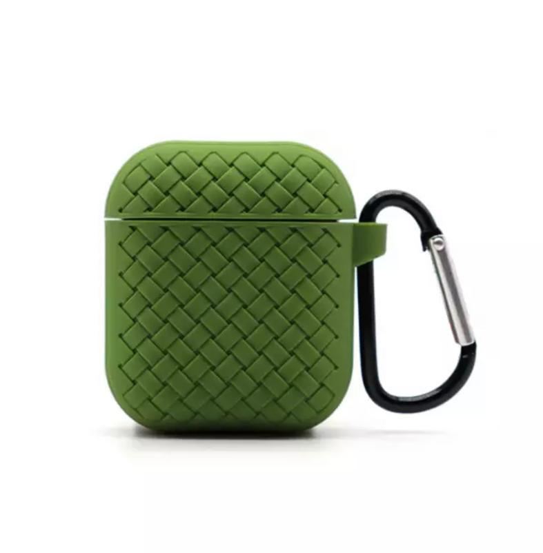 Чехол плетение для AirPods Green