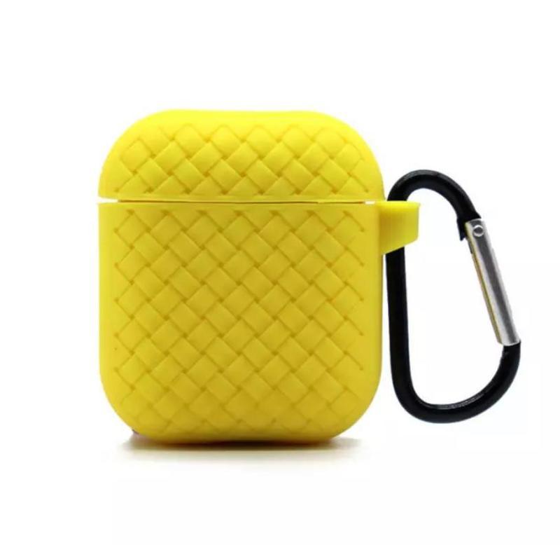 Чехол плетение для AirPods Yellow